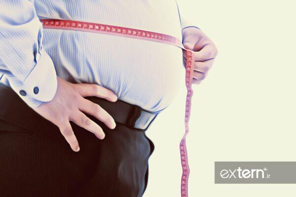 دورشکم چاقی و افزایش وزن